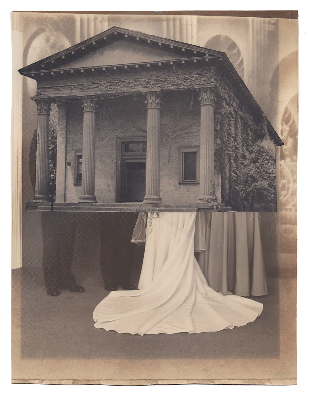 Wedding 9, 2016, Found Photographs & Collage, 8 3/4 x 6 3/4 inches