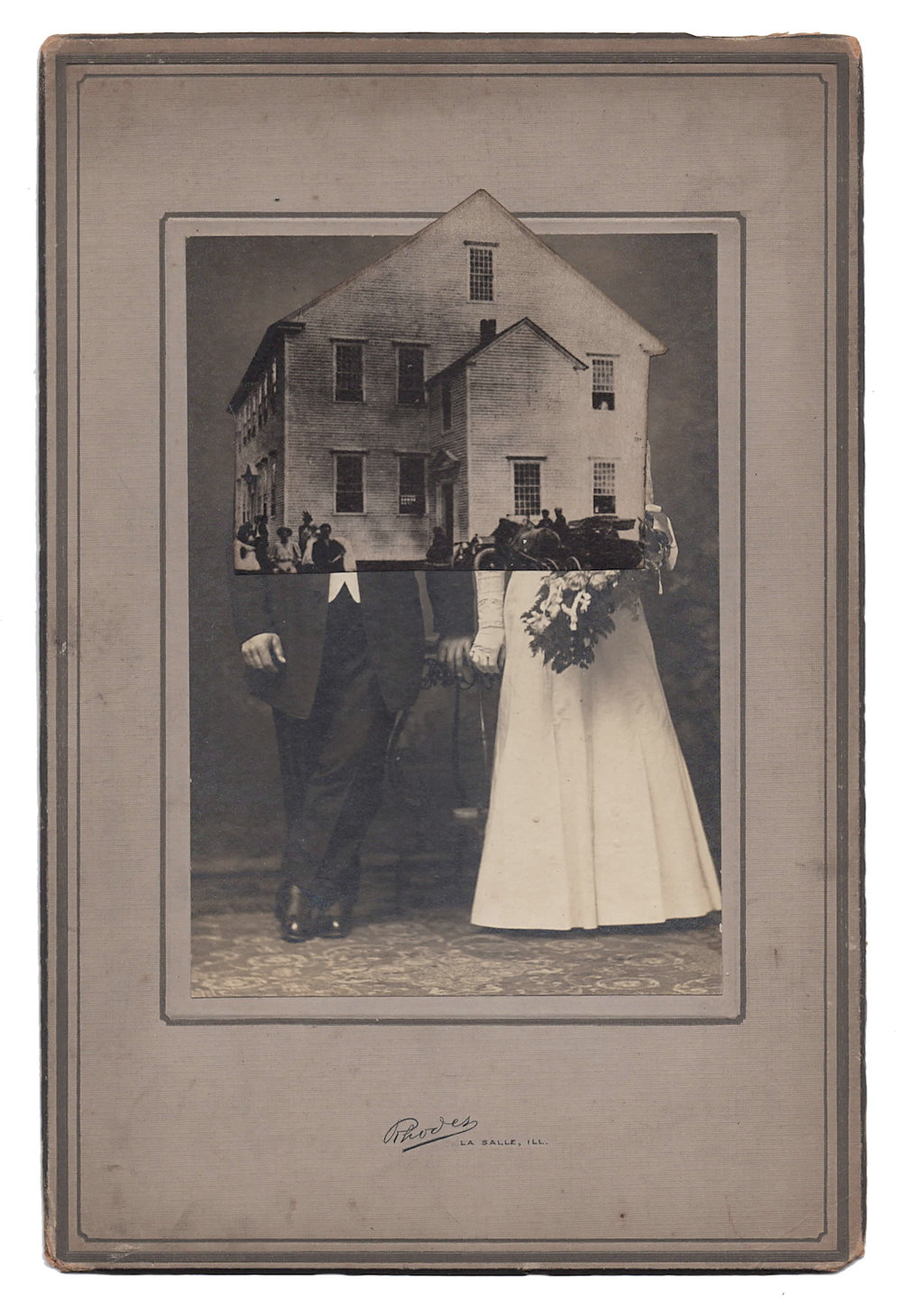 Wedding 11, 2016, Found Photographs & Collage, 9 x 6 inches