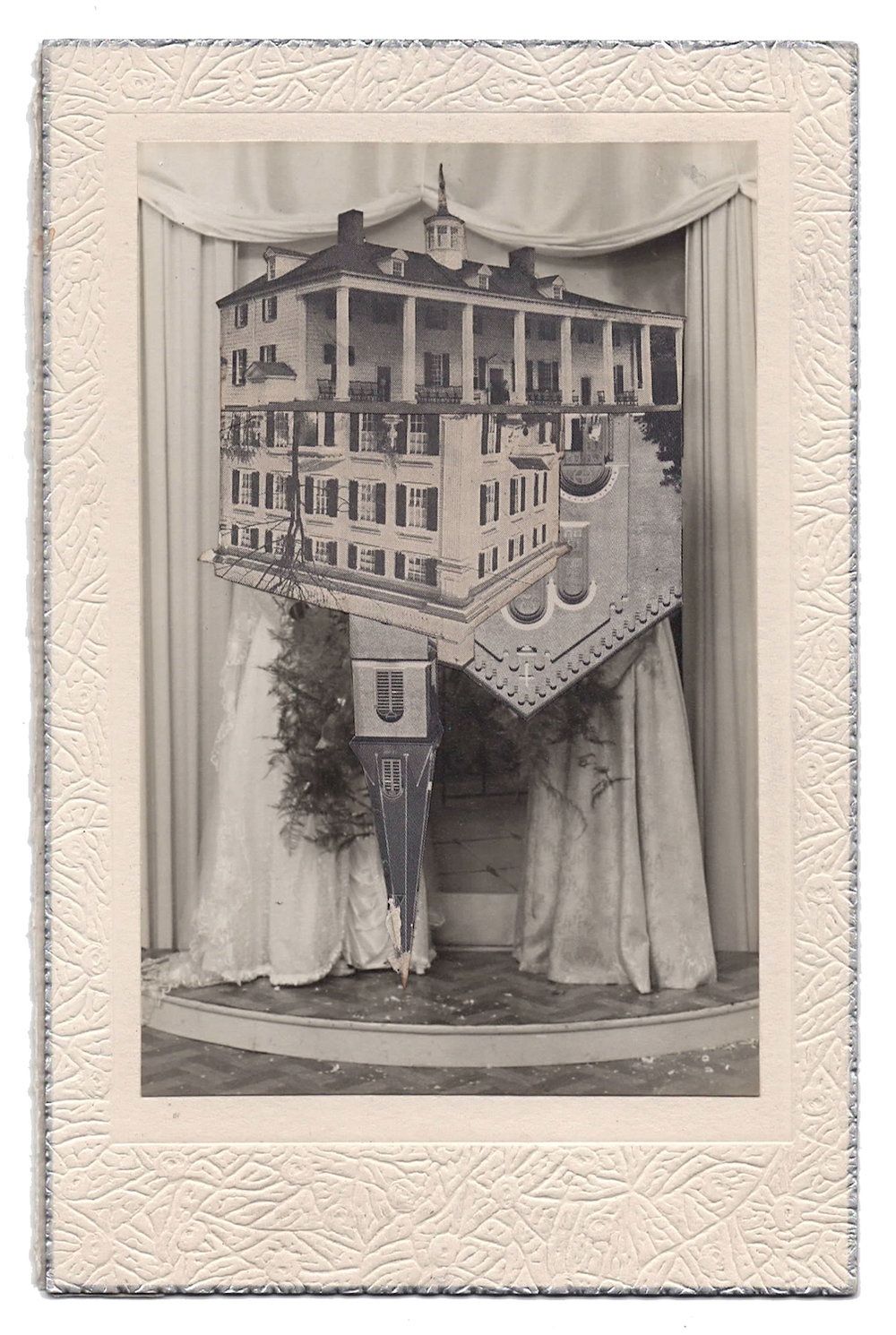 Wedding 12, 2016, Found Photographs & Collage, 7 x 4 1/2 inches