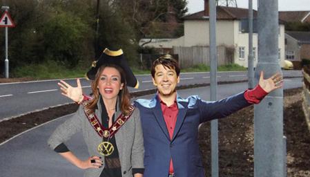 Dame Dannii and Rowhedge mayor Ken John-Bum in happier days
