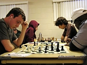 Last round action Dalton Perrine against Gabbedon (foreground) and John Ludwig v. Toby Boas.