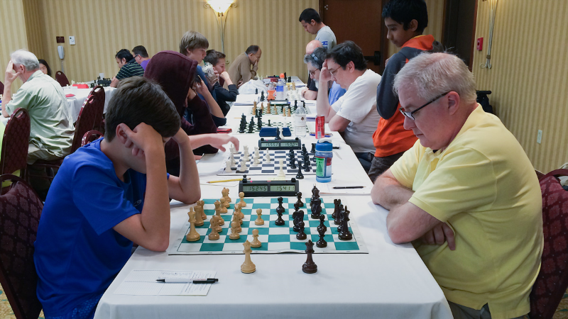 Ryan Hamley (L) vs Paul Leggett (R) U2000 Section, Round 4, CFCC Orlando Autumn Open