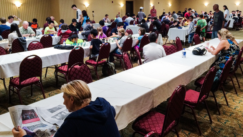 The start of Round 4, CFCC Orlando Autumn Open & National Chess Day Tournament.