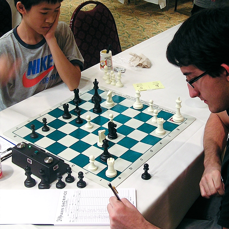 Truman Hoang (2185) (L) vs. Thomas Zerquera (1970) (R) Premier Section,  Round 3, CFCC Orlando Autumn Open.