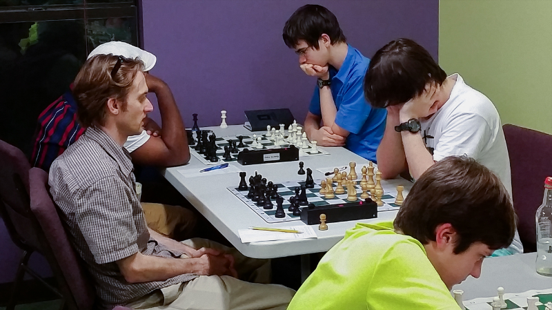 Players at our UUUS tournament facility, the site of our Summertime 1-day Tornado's, chess training events and our annual Club Championships.