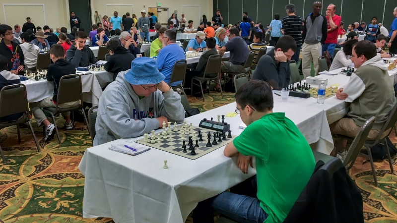 Board One, Round 3, Stephen Stoyko (2255) (L) vs John Ludwig (2448) (R), 2016 Class Championship.