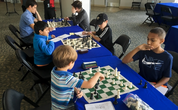 Some of Orlando's competitive scholastic chess players giving it a shot!