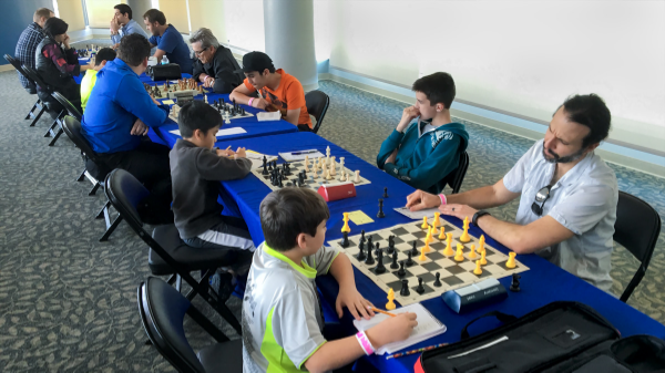 Final round, CFCC/Magic Chess Knight Quick Chess tournament held at the Amway Center last Sunday.