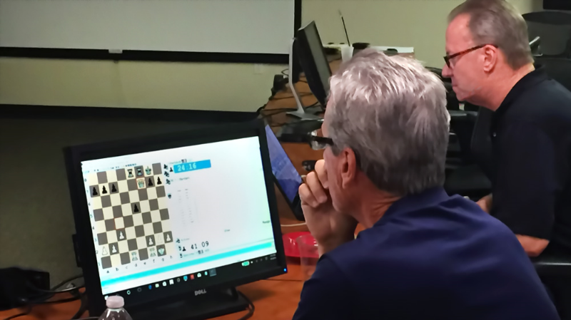USAT South Team Chakis-mate's Larry Storch (2204) and John Nardandrea (2234) during their playoff rounds hosted on ICC ( Internet Chess Club ) last Saturday.