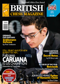 This article was published in the 2016 July issue of British Chess Magazine (BCM) which began in 1881 and is the world's oldest chess magazine. Theo Slade (2086), a new Orlando resident from Cornwall, England, is their youngest ever staff writer, starting when he was only 12 years old! Theo has been writing regularly for BCM for three years and has agreed to share his articles with the CFCC community.