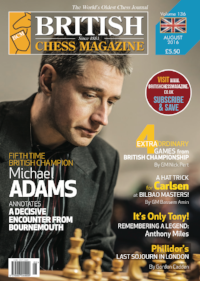 This article was published in the 2016 August issue of  Br  itish Chess Magazine (BCM)    which began in 1881 and is the world's oldest chess magazine. Theo Slade, a new Orlando resident from Cornwall, England, is their youngest ever staff writer, starting when he was only 12 years old! Theo has been writing regularly for BCM for three years and has agreed to share his articles with the CFCC community.