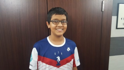 Nikhil Kumar won first place in the U12 World Cadets Championship, held in Batumi, Georgia!  Photo credit: US Chess ( https://new.uschess.org/news/nikhil-kumar-defeats-indian-prodigy-to-take-clear-lead/ )