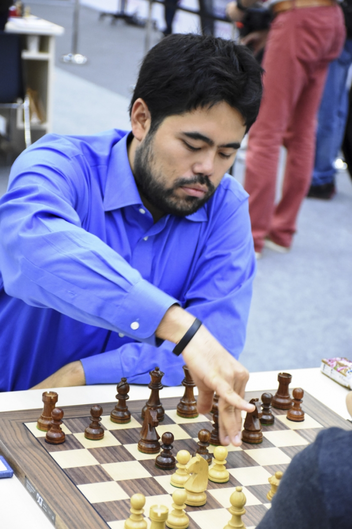 Hikaru Nakamura won two short games by exploiting bad blunders. Photo © Lana Afandiyeva