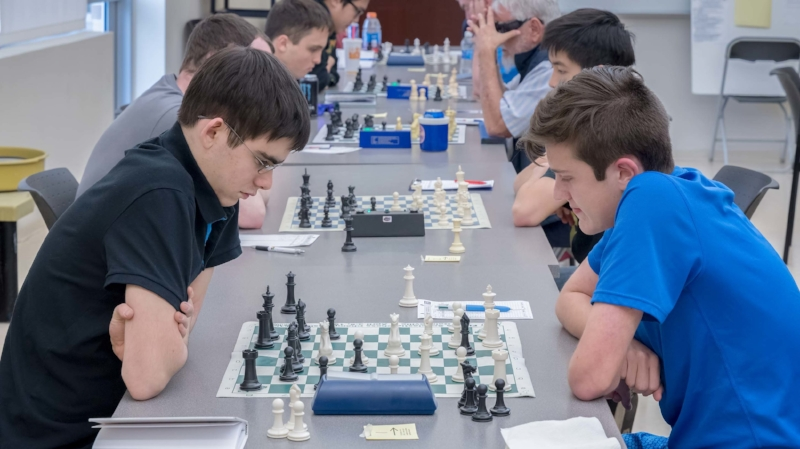 Final Round, Board 1, John Ludwig (2482) vs Ryan Hamley (1964) 2017 CFCC Club Championship held at the UCF Teaching Academy March 2017.