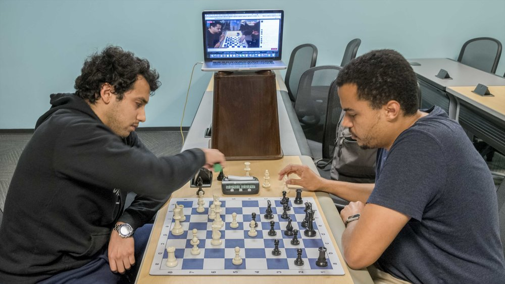 The Orlando Chess Club & Development Center live streaming during their casual chess nights on Thursdays from 6-11pm at Full Sail University (Across from the Winter Park Costco)