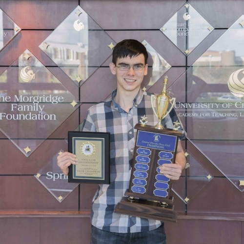 John Ludwig (2463) after winning his 5th CFCC Club Champion title. John also won 1st Place in CFCC's 2017-2018 $600 Grand Prix awards!