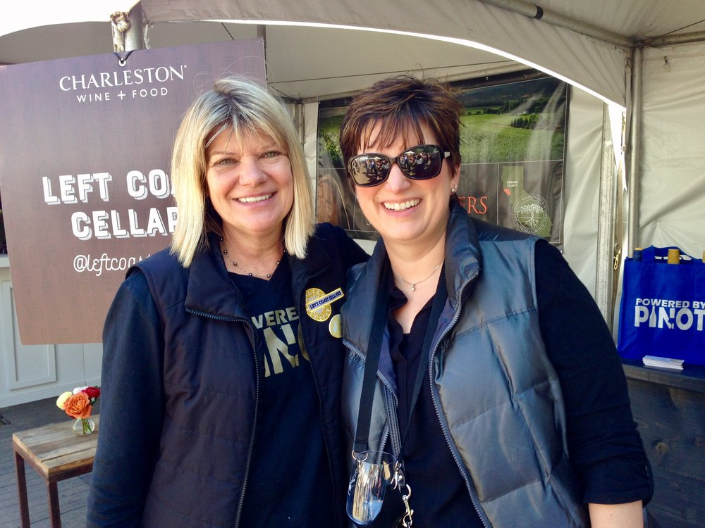 "Suzanne and Laura Leonetti at the 2017 Festival. Laura wrote: ""My husband and I are big fans of Left Coast Cellars since we were introduced to Cali's Cuvée at our friend's restaurant, Waypoint in Williamsburg, VA."" Small, happy world! Hope to see you again this year, Laura. Cheers!"