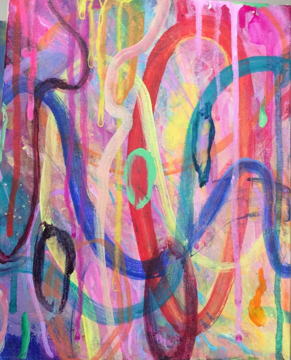 """YO-YO, 10"""" x 8"""" , mixed media on canvas, 2015"""