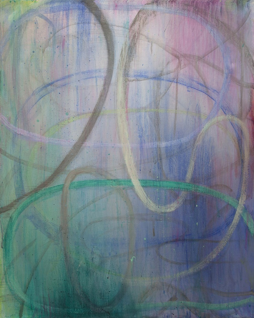 """Olympiad"", 30"" x 24"", mixed media on canvas"