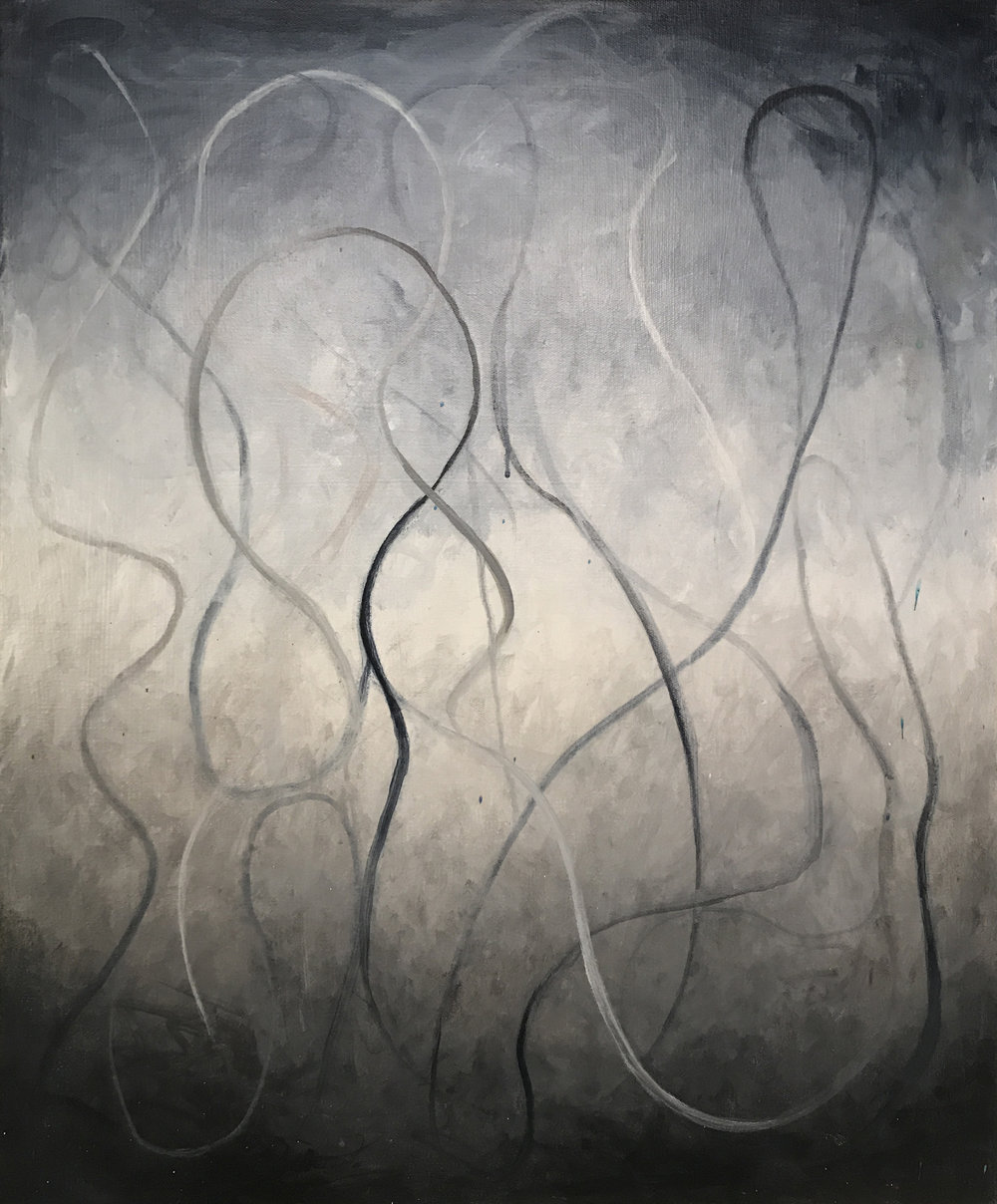 "Betsy Bauer, ""Inkling"", 24"" x 20"", mixed media on canvas"