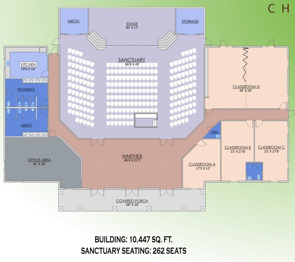 NEW HORIZONS CHRISTIAN CHURCH - FLOOR PLAN