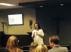 Buddy Ministry Lead Volunteer Raechel Gleason shared information about the program.