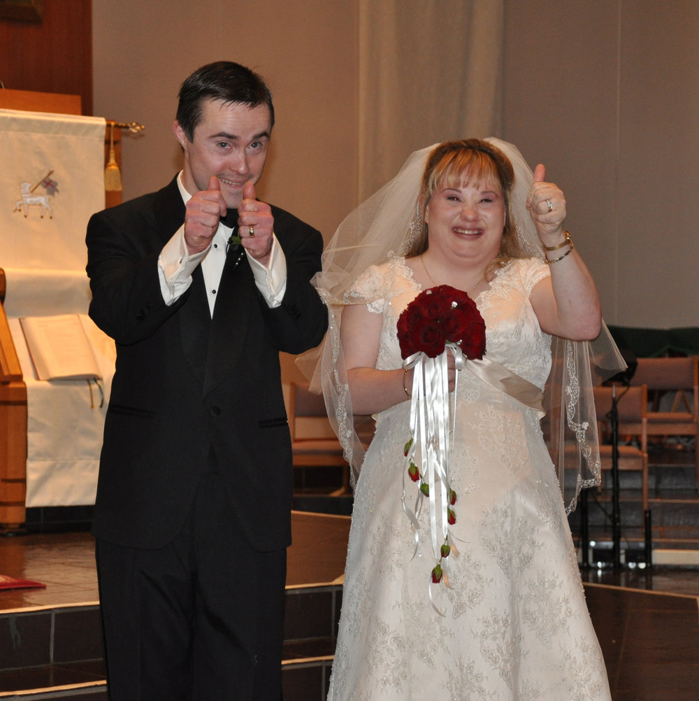 This couple married and are living in a town house