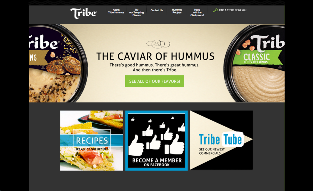 Tribe Hummus- Website Reskin