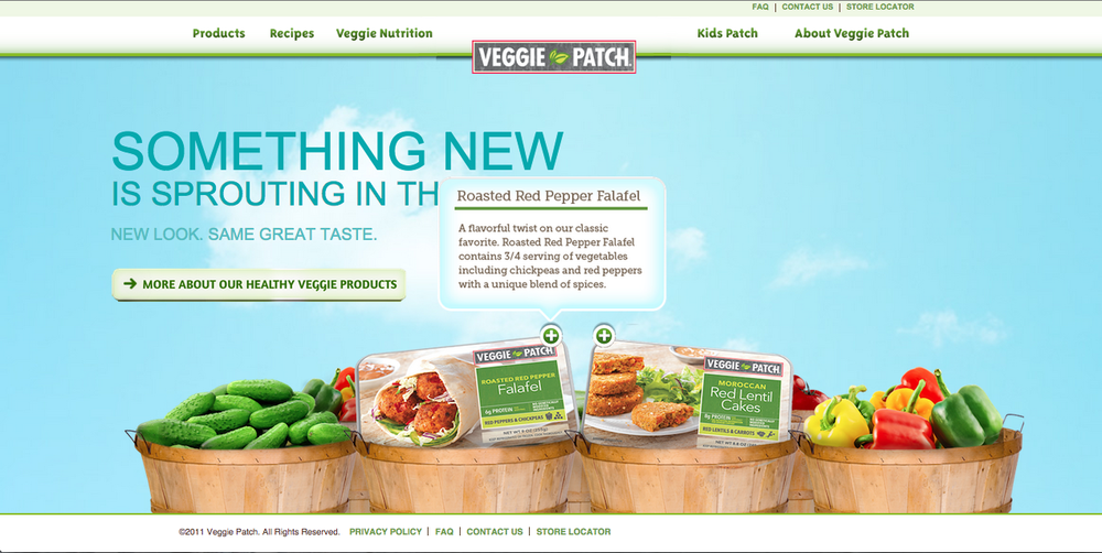 Veggie Patch- Website Reskin