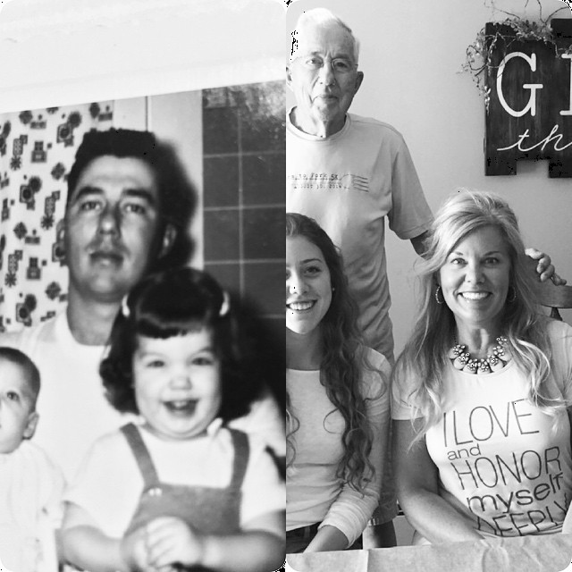 #fathersdaythenandnow#55yearsbetween  #thankfulforfaithandfamily#missyreplacesmike