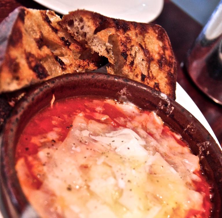 Oven Baked Egg – Smoked Tomato, Pantaleo and Toast