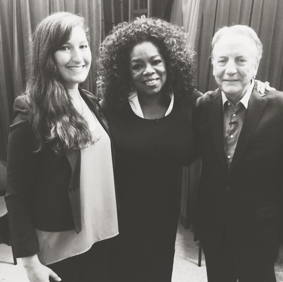 With my father, Howard Fallon, and Oprah before going on the Dr. Phil set