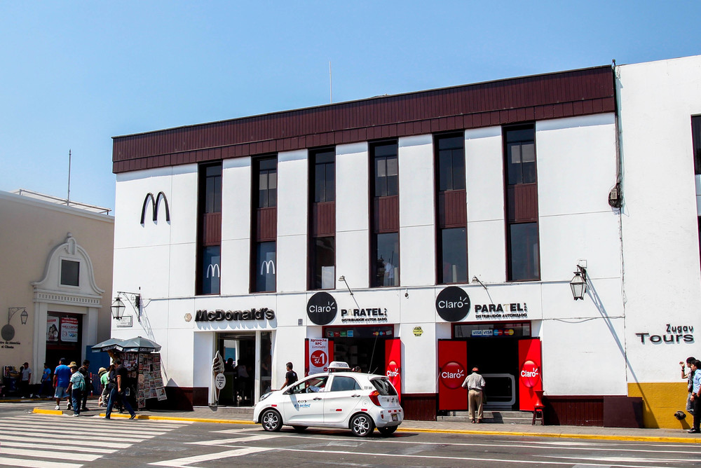 McDonald's on Trujillo's Plaza del Armas