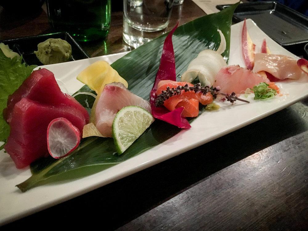 10 piece sashimi platter