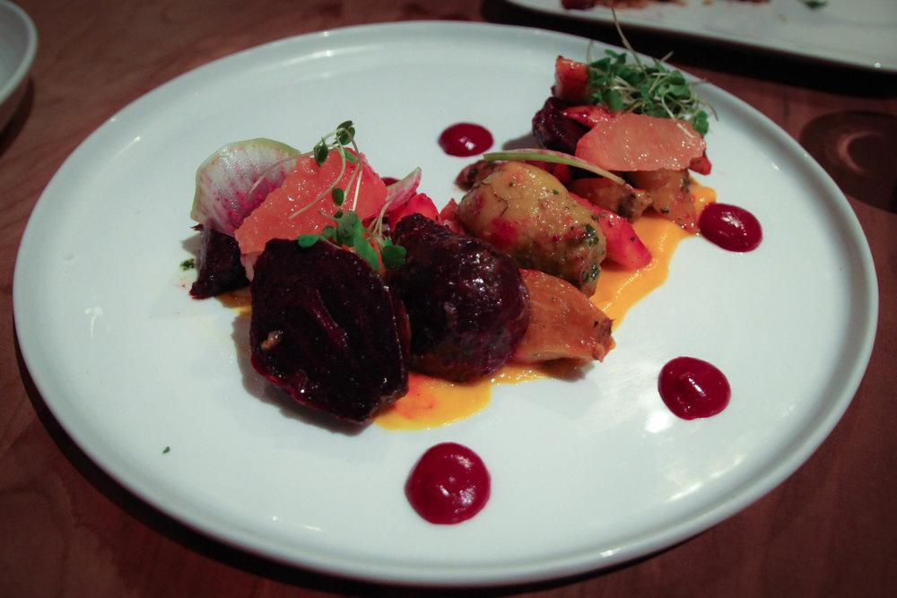 Salada de Terra: beets, turnip, carrots, shallots, citrus, herb vinegrette