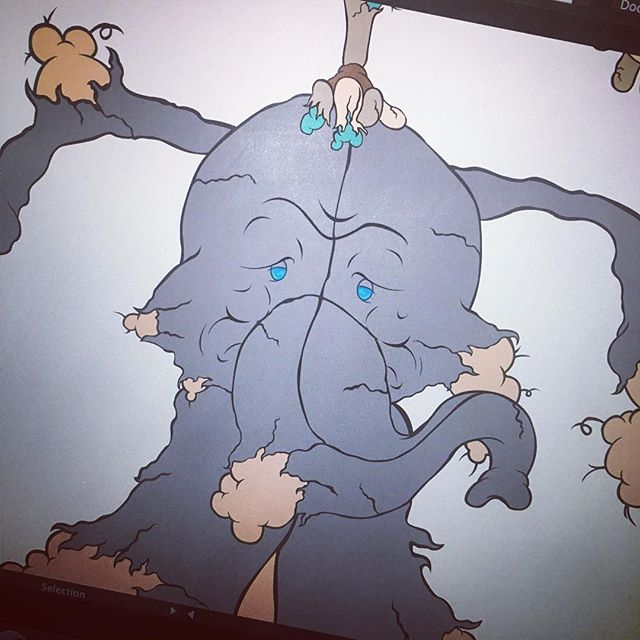 #wip #OscarTheElephant #xenomartinez #vector #vectorart