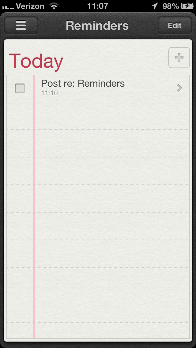 Reminders...it just works.