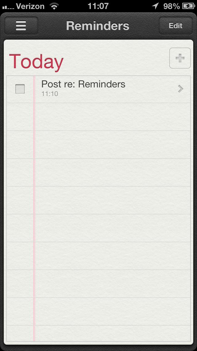 Reminders...it just works.