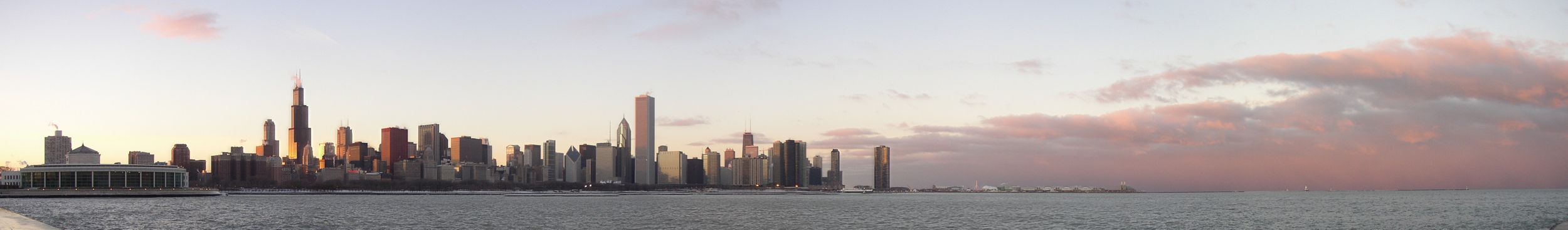 Chicago_Skyline_at_Sunset