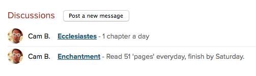 I want to make sure I'm reading regularly