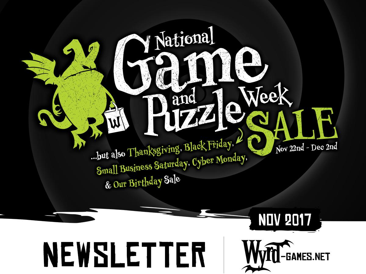 Black Friday Newsletter Wyrd Games