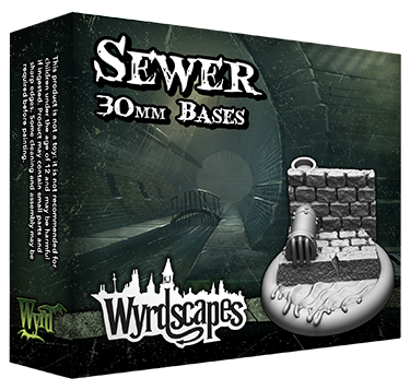 SEWER - 30mm, 40mm, and 50mm Bases Available