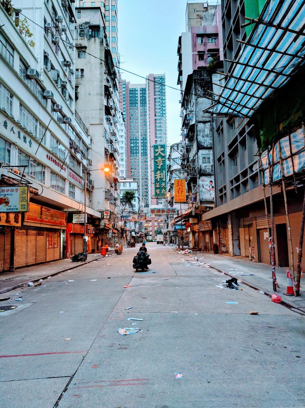 Most people are still sleeping this Saturday morning in Hong Kong