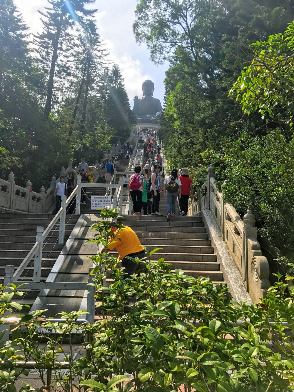 268 steps to Tian Tan Buddha // Hong Kong
