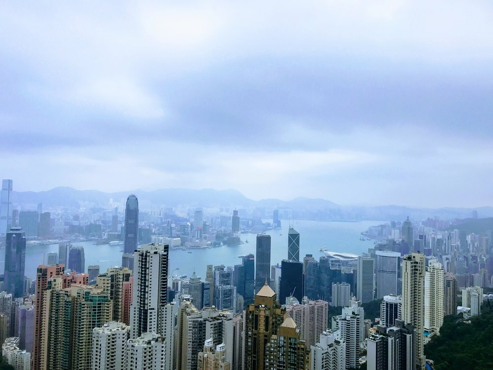 View of Victoria Harbor from Victoria Peak // Hong Kong