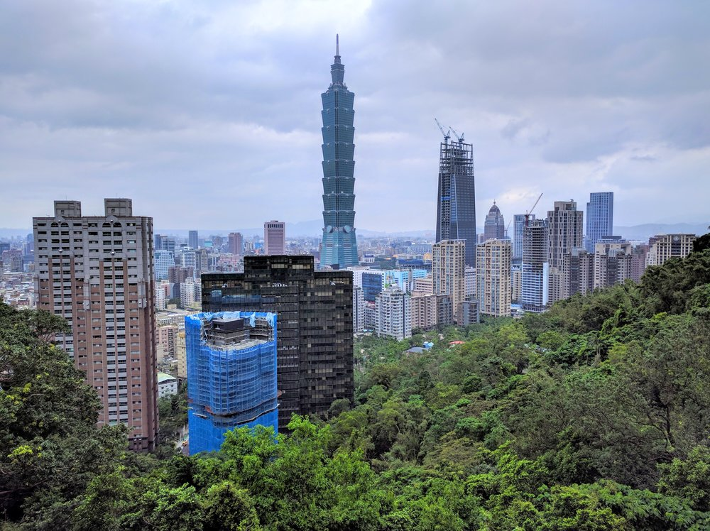View of Taipei 101 from Elephant Mountain // Taipei