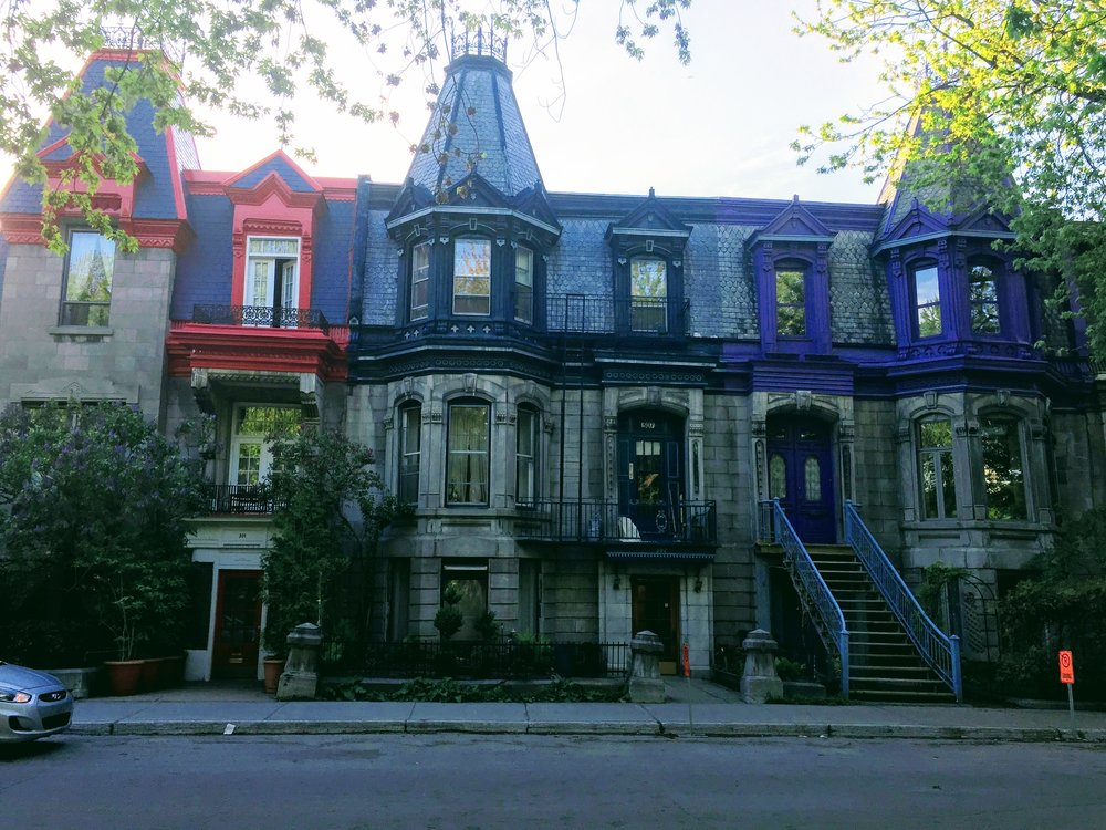 The lovely, colorful homes at Square Saint-Louis