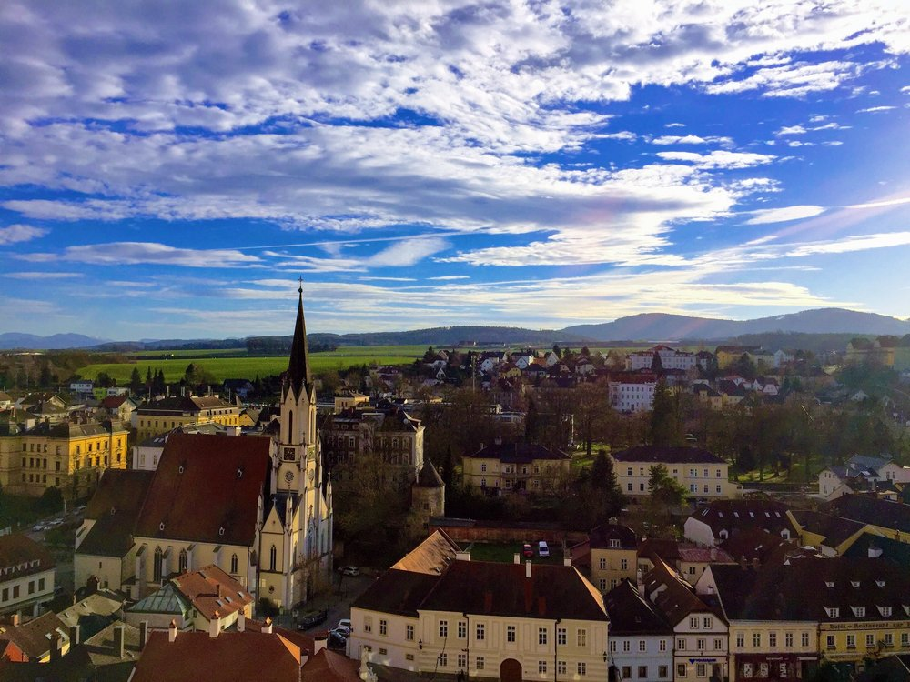 The view of Melk from the Abbey // Austria