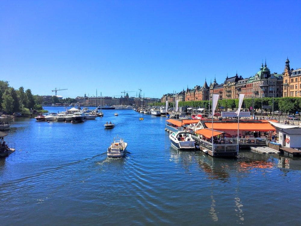 The view from the Djurgården Bridge // Stockholm, Sweden