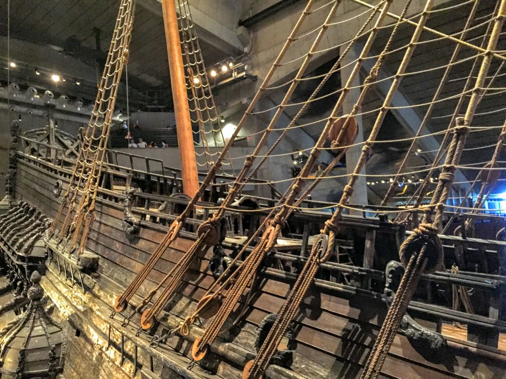 Incredible full-sized ship inside of the Vasa Museum // Stockholm, Sweden